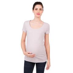 Camiseta premamá de mangas cortas de algodón ecológico