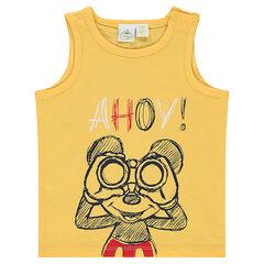 Camiseta de punto sliub Disney con estampado Mickey