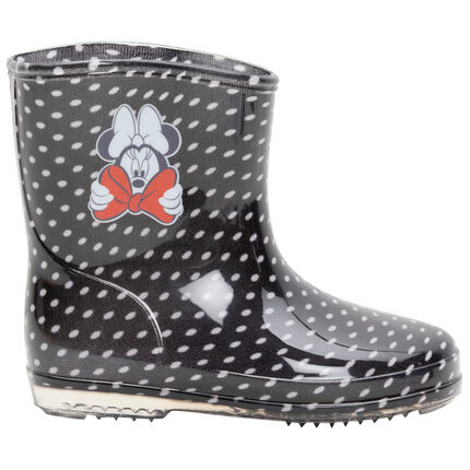 Botas de lluvia de Minnie Disney con lunares all over de la 20 a la 23
