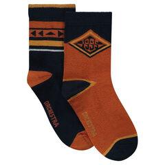 Juego de 2 pares de calcetines con motivos de fantasía