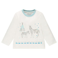 Camiseta de manga larga con cebras estampadas