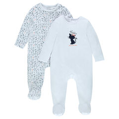 Pack de 2 pijamas de terciopelo con estampado