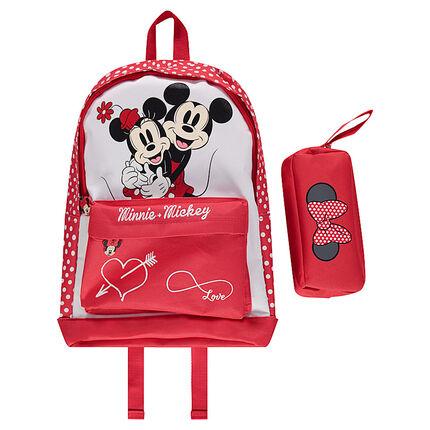 Mochila y estuche ©Disney Minnie y Mickey