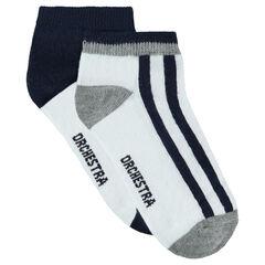 Juego de 2 pares de calcetines bajos combinados