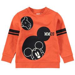 Sudadera de felpa naranja con estampado de Mickeyt Disney