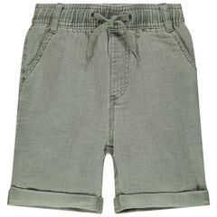 Bermudas de tela con cintura elástica