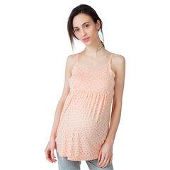Camiseta de embarazo y lactancia homewear con estampado all over