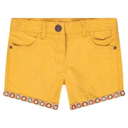Pantalón corto de algodón con dibujos étnicos