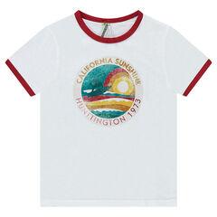 Júnior - Camiseta de manga corta con estampado efecto gastado