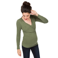 Camiseta de manga larga para lactancia