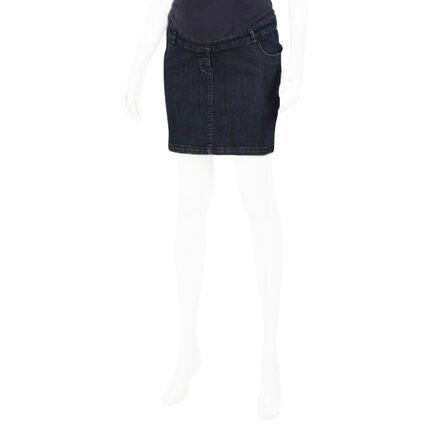 Falda para el embarazo banda ancha de jean en la parte superior