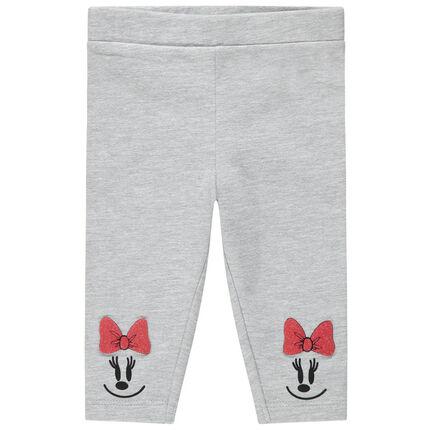 Leggings grises con estampado de Minnie Disney