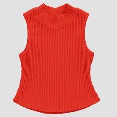 Jersey con cuello alto sin mangas