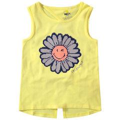 camiseta lisa con flor de lentejuela magica , Orchestra