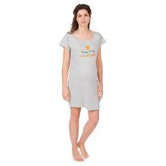 Maxi camiseta de manga corta homewear de embarazo con estampado