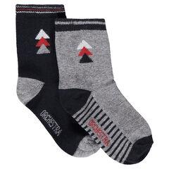 Juego de 2 pares de calcetines variados con motivo de jácquard