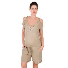Mono corto de embarazo estilo bohemio