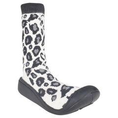 Zapatillas con estampado de leopardo suela de goma