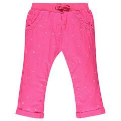 Pantalón corto rosa con estampado de fantasía
