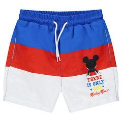 Pantalón corto de baño tricolor Disney con estampado de Mickey