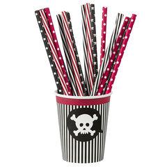 x 20 pajitas de cumpleaños Pirata de plástico
