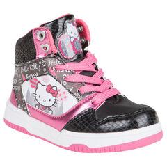 Zapatillas de deporte de caña alta con cordones Hello Kitty con cremallera con detalle con lentejuelas