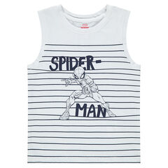Camiseta de punto con rayas y ©Marvel Spiderman estampado