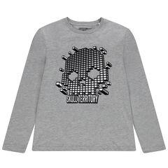 Junior - T-shirt manches longues print tête de mort