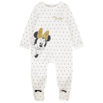 Pijama de terciopelo con launres all over y estampado de Minnie Disney