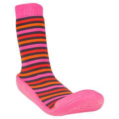 Zapatillas con estampado con rayas suela de goma