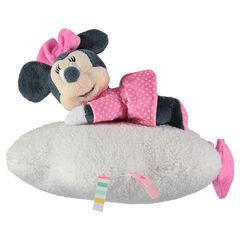 Peluche musical de Disney Minnie en terciopelo y borreguito