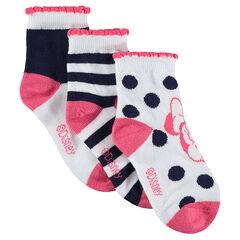 Juego de 3 pares de calcetines con dibujos de Minnie ©Disney de Jacquard
