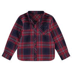 Camisa de manga larga de cuadros de franela