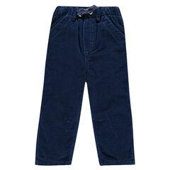 Pantalón de terciopelo con cintura