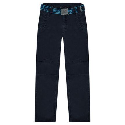 Pantalón de sarga con cinturón extraíble