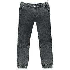 Jeans cintura y tobillos elásticos