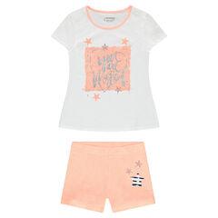 Júnior - Pijama de punto y estampado de fantasía brillante y estrellas