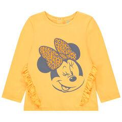 T-shirt manches longues en coton bio print Minnie Disney pour bébé fille , Orchestra