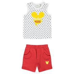 Conjunto de Disney con camiseta con estampado Mickey y bermudas