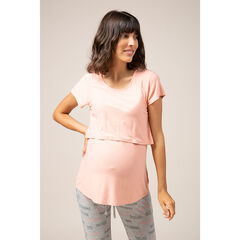Camiseta homewear lisa de premamá y lactancia