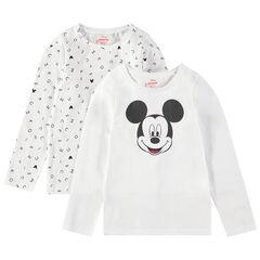 Juego de dos camisetas interiores de manga larga con estampado de Mickey de Disney