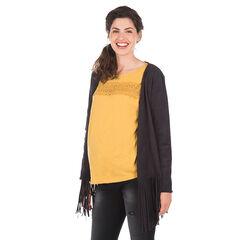 Chaleco para el embarazo con flecos
