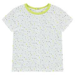 Camiseta de manga corta de punto con estampado gráfico all over