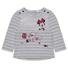 Camiseta de felpa de rayas marineras con estampado Disney Minnie
