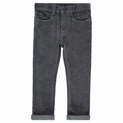 Pantalón de pana fina gris