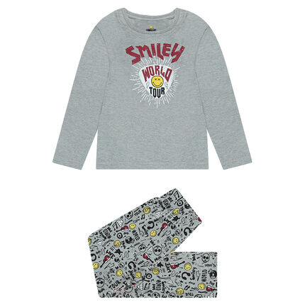 Pijama de punto con estampado de ©Smiley
