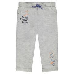 Pantalón de algodón bordado