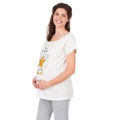 Casmieta homewear de premamá con inscripciones estampadas y estrella