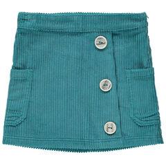 Falda corta de pana y botones de fantasía