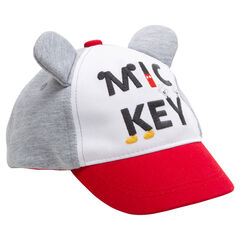 Visera con orejas de Mickey de relieve con inscripción bordada ©Disney